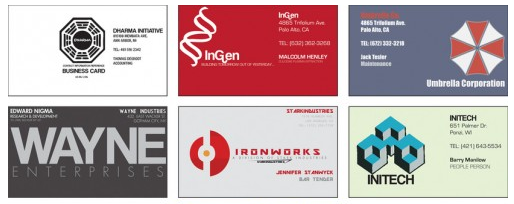 The system business cards my homeboy in charm city the miraculous marty day has found this great collection of business cards of and from famous movies and other pop culture colourmoves